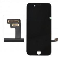 LCD дисплей для Apple iPhone 7 Plus с рамкой крепления, (яркая подсветка)черный (AAA) 1-я категория